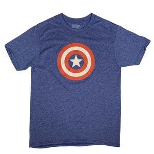 Marvel Captain America Logo S/S Graphic T-Shirt